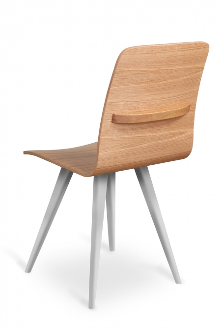 GATTA BIANCA CHAIR wholly wooden with handle