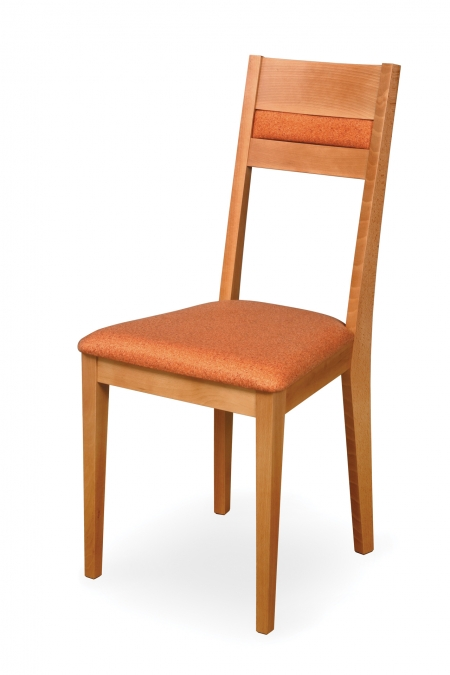 VENGE with upholstered seat and partially upholstered back