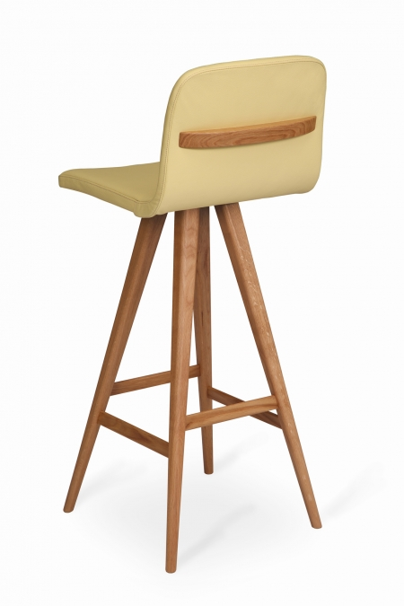 GATTA BAR STOOL wholly upholstered with handle
