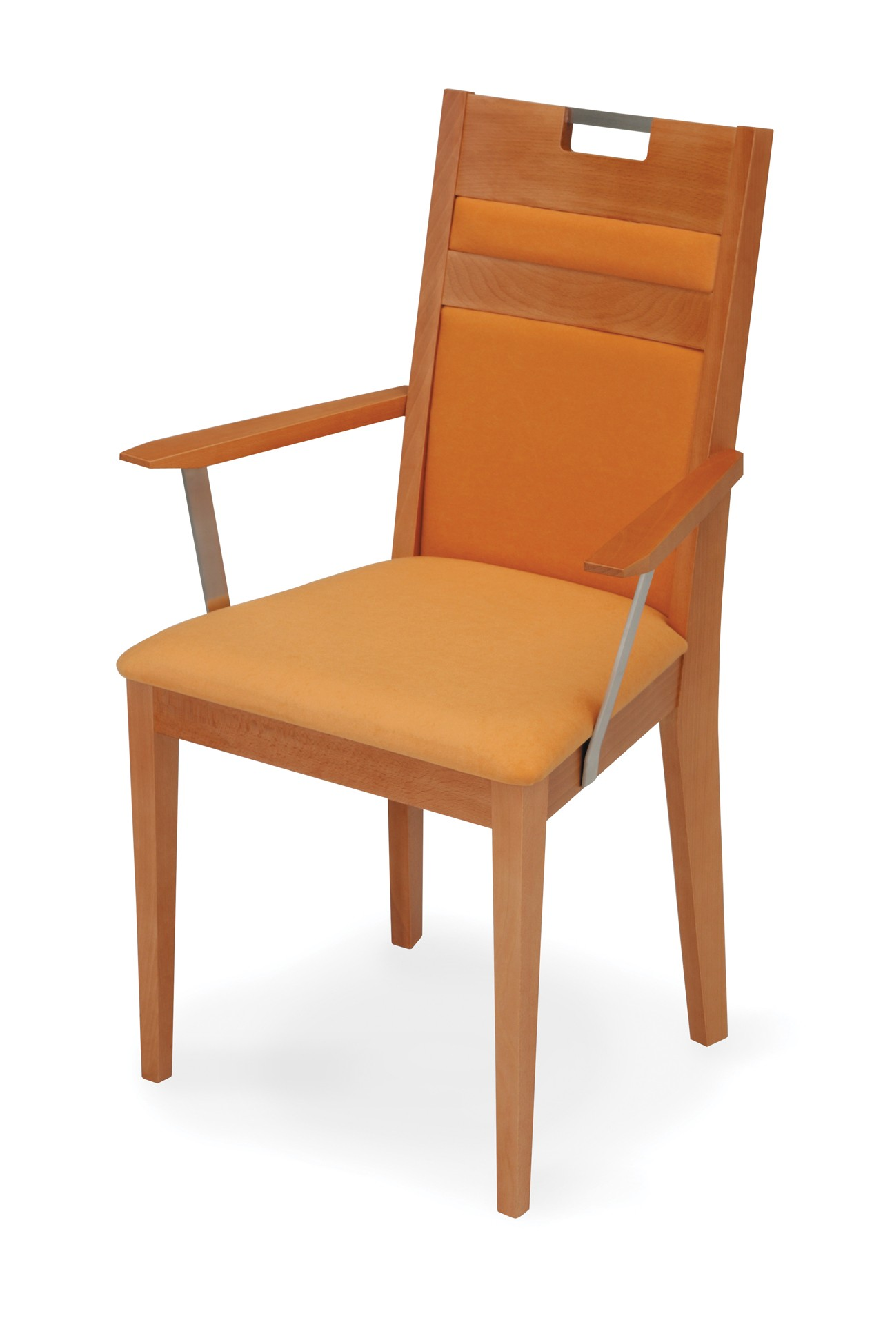 VENGE ARMCHAIR wholly upholstered with handle