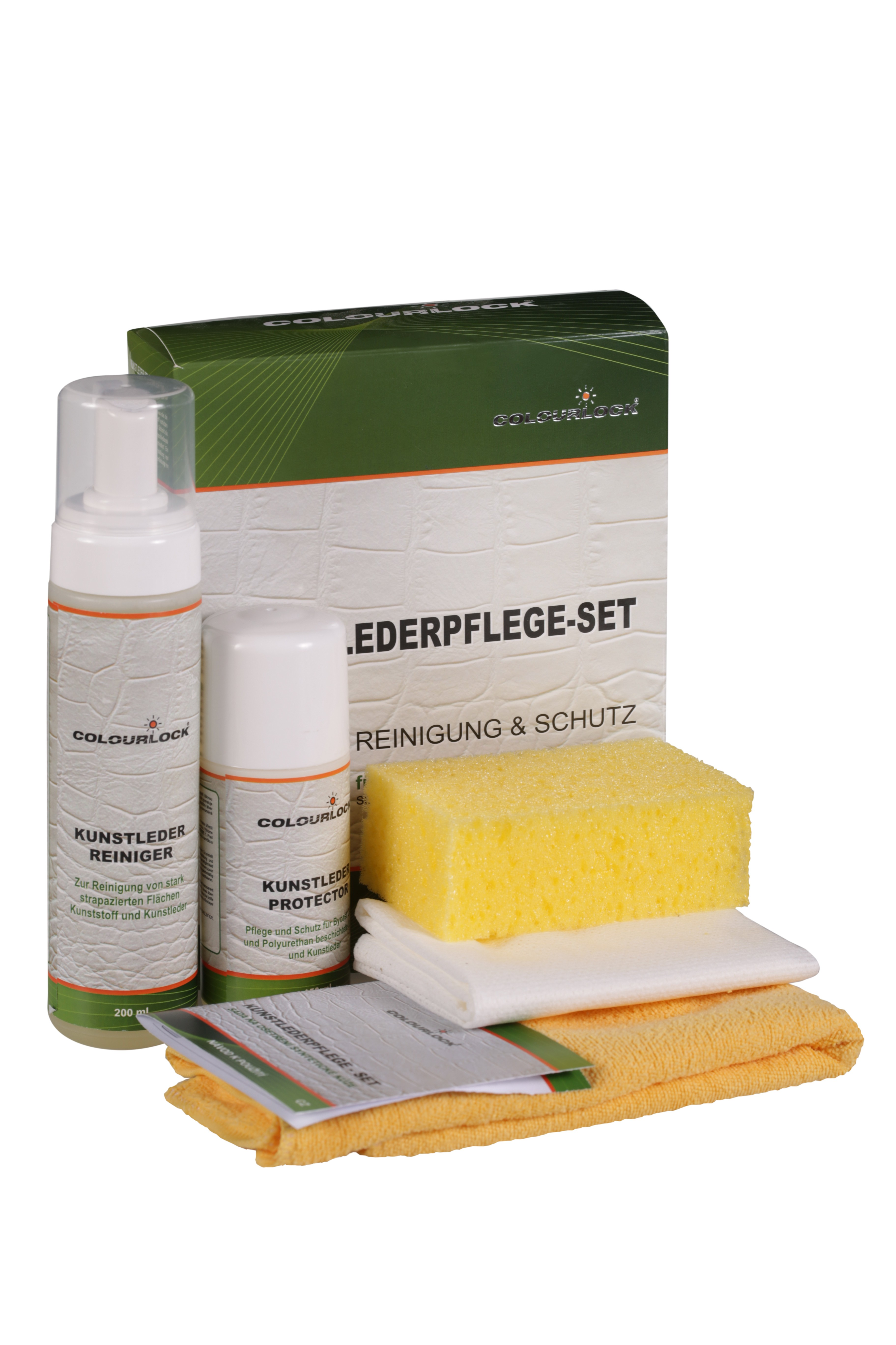 Artificial leather care set