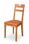 VENGE CHAIR with upholstered seat and handle