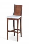 ARCA BAR STOOL with upholstered seat