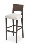 EDITA bar stool with upholstered aprons