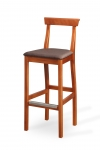 DURATA BAR STOOL with upholstered seat and stainless shield