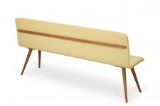 GATTA BENCH wholly upholstered with handle