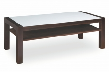 EDITA CRISTALLO COFFEE TABLE WITH SHELF